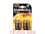Duracell elem AA 4 db