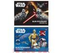 Vázlatfüzet Star Wars A/4-es 20lapos kétféle mintával.