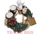 Karácsonyi Asztaldísz Porcelán Angyallal