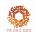 Filc Alátét Kör Lepke Narancs 13 cm