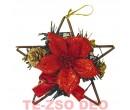 Kopogtató rattan csillámos piros